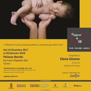 dal 12 Dicembre 2017 al 28 Gennaio 2018 la mostra a Palazzo Barolo