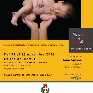 Profumo di Vita #neldirittodelbambino in mostra a Caselle Torinese dal 20 al 25 Novembre