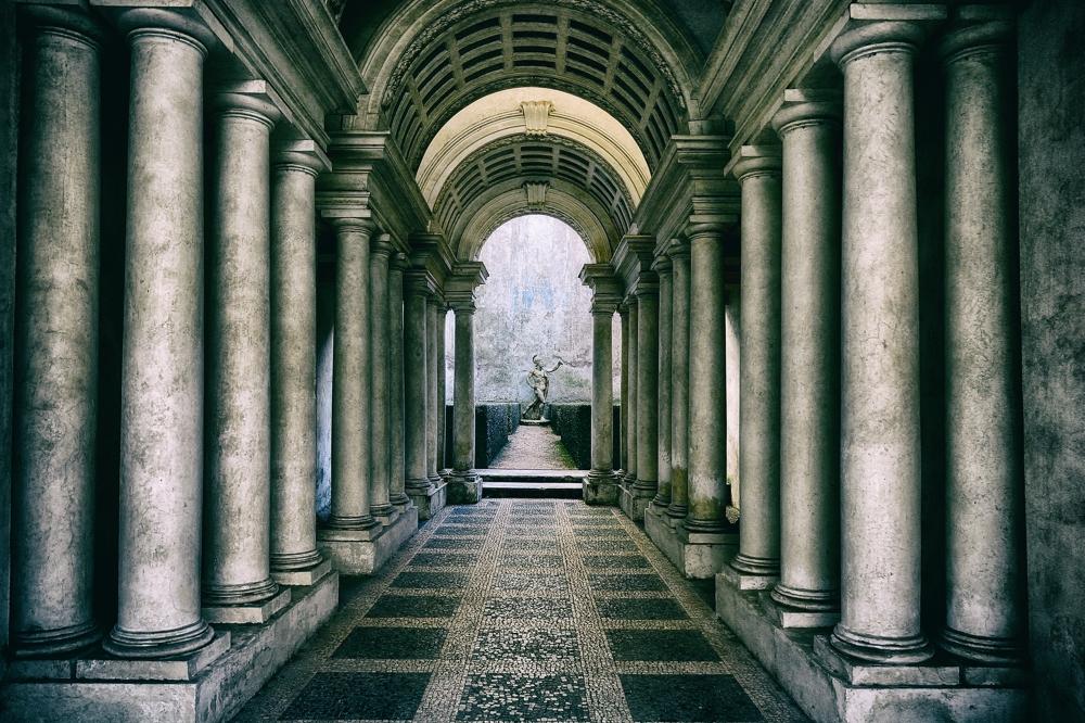 Francesco Borromini's perspective gallery, Palazzo Spada