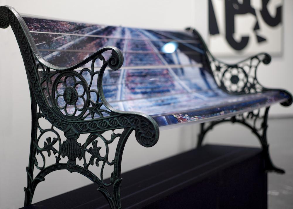 R.I.P  - 2014 Old cast iron - print on plexiglass   126 x 71 x 60